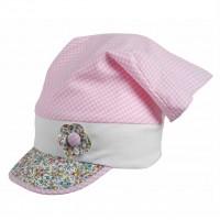 Bio Haarband als Schirmmütze von pure pure - rosa bunt