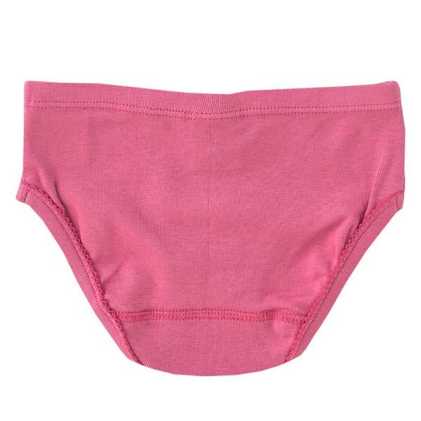 Slip Mädchen Bio rosa gestreift