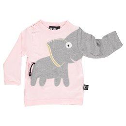 Klasse Mädchen Elefanten Shirt - langarm