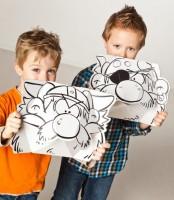 Masken - Wikinger & Pirat zum Stecken, malen & spielen