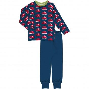 Feuerwehren Schlafanzug langarm marine