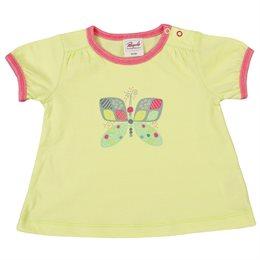 Bio Shirt leicht lemon gelb Schmetterling