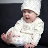 Vorschau: Babymütze mit Knoten Zipfelmütze - Seestern