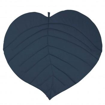 Edle Krabbeldecke Blattform dunkelblau