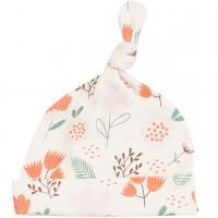 Babymütze mit Knoten Blumen Muster