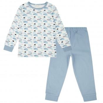 Pyjama Flugzeuge in hellblau