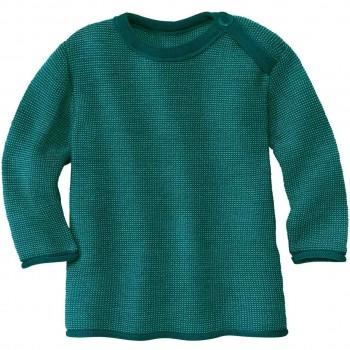 Pullover Baby Schurwolle in petrol