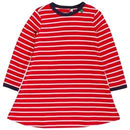 Langarm Kleid gestreift rot weiss