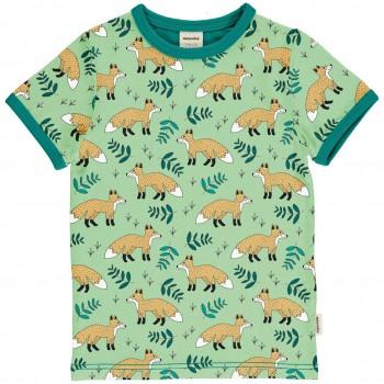 Kurzarmshirt Füchse in hellgrün