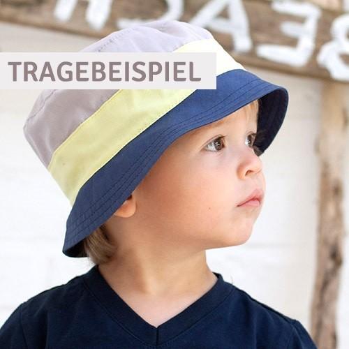 Sportlicher Jungen Fischerhut Bio türkis taupe