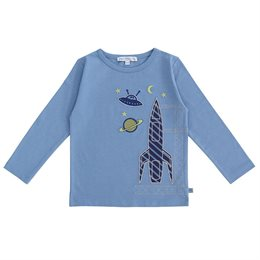 Hochwertiges Raketen Langarmshirt blau