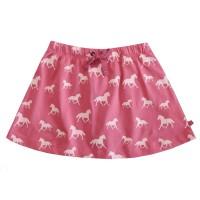 Vorschau: Mädchen Bio Shorts als Rock mit Pferden 2in1