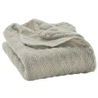 Leichte Babydecke Wolle Bio 80x100 cm grau