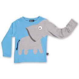 Elefanten Langarmshirt blau