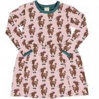 Flatter Kleid langarm elastisch Rehkitze in rosa