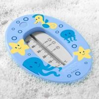 Badethermometer mit übersichtlicher Skala blau