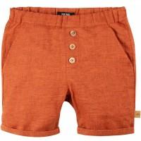 Leichte Leinen Shorts rost-orange