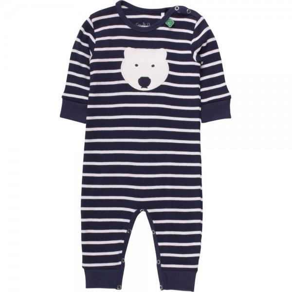 Interlock Babystrampler langarm Eisbär