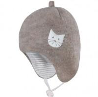 Bio Baby Wintermütze außen Merinowolle - beige