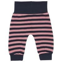 Krabbelhose Streifen rosa - navy