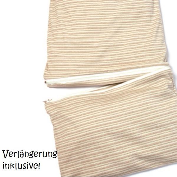 Sommerschlafsack atmungsaktiv & mitwachsend 80-110 cm