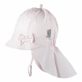 Rosa Sommer Mütze Schleife Nackenschutz