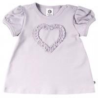 Ausgestelltes T-Shirt Herz in hellem lila