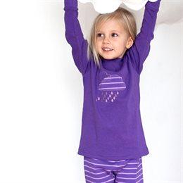 Mädchen Schlafanzug mit Bündchen lila