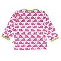 """Vorschau: Bio Shirt """"coole Schnecke"""" von innen ungefärbt - pink"""
