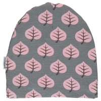 Vorschau: Warme Mädchen Beanie Blatt grau rosa