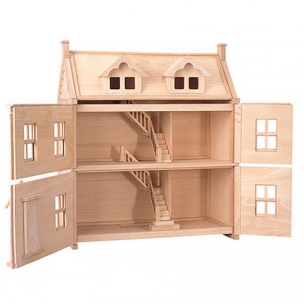 viktorianisches puppenhaus zum aufklappen greenstories. Black Bedroom Furniture Sets. Home Design Ideas