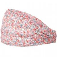 Sommer Haarband Popelin - Blumen rosa