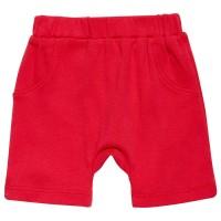 Bio Babyhose kurz in rot leicht pink