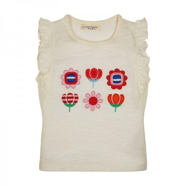T-Shirt mit Blumen & Schmetterlingsärmel
