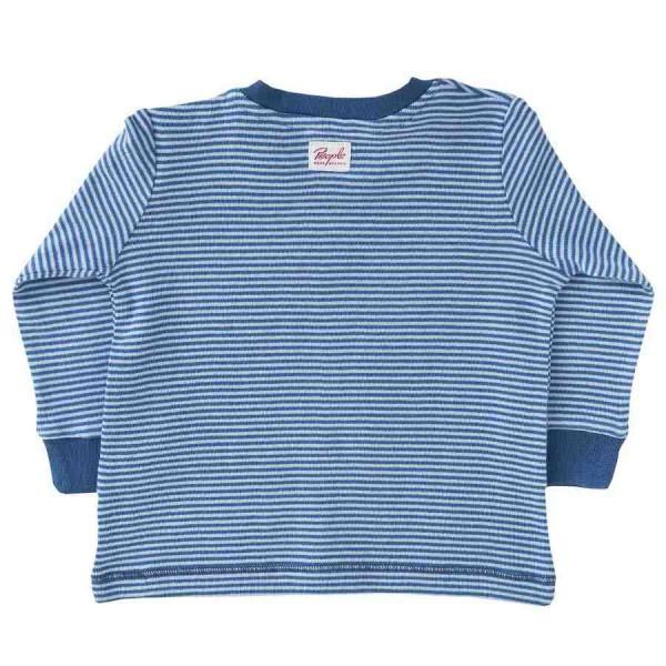T-Shirt Ringel blau Patches