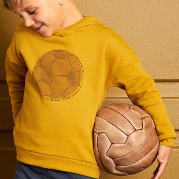 Sportlicher Sweatpullover Kapuze mit Fußball