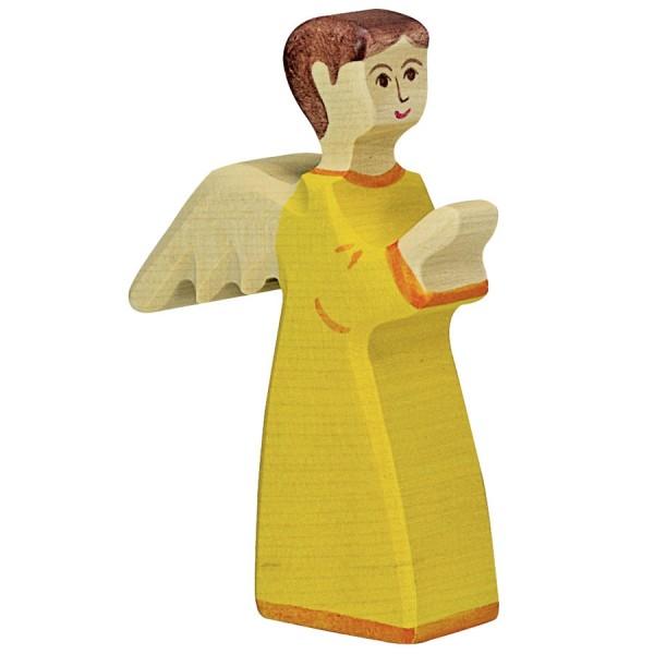 Holztiger Engel gelb Holzfigur