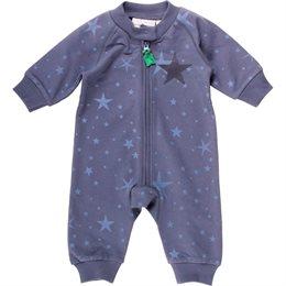 Sternen Strampler mit Reißverschluss pastellblau