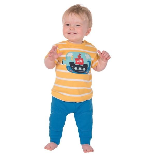 Babyhose mit Kniepolster blau