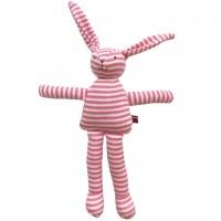 Bio Stoffhase Ringel in rosa