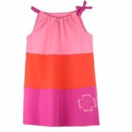 Leichtes weites Popelin Kleid pink