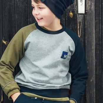 Sweatshirt Bündchen grau-melange