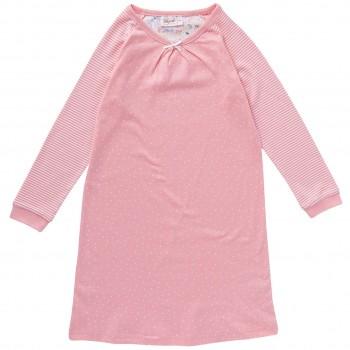 Nachthemd Pünktchen Ringel rosa