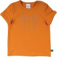 """T-Shirt """"Guck' mal"""" Froschgesicht in karamell"""