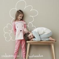 Schlafanzug rosa Schaf Langarm vegan