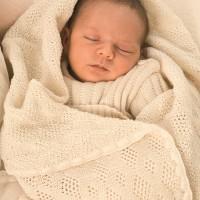 Vorschau: Leichte Babydecke Wolle Bio 80x100 cm ungefärbt