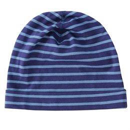 Bio Mütze Streifen blau