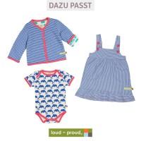 Vorschau: Kleid ohne Arm super leicht blau rosa