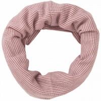 Wolle Seide Schlauchschal Ringel rosé