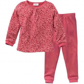 Langarm Schlafanzug mit Blümchen beere